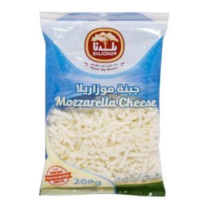 Baladna Shredded Full Fat Mozzarella Cheese 200g